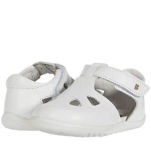 Bobux White Zap Sandal